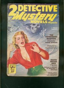 TWO DETECTIVE MYSTERY NOVELS-WINT 1951-SKULL-HEADLIGHT  VG