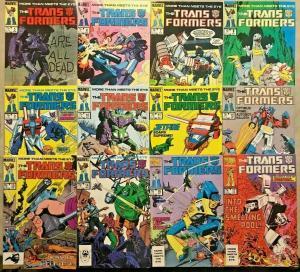 TRANSFORMERS#5-17 VF/NM LOT 1984(12 BOOKS) MARVEL COMICS