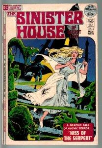 SINISTER HOUSE OF SECRET LOVE #4-RARE DC ROMANCE/HORROR/GOTHIC VG