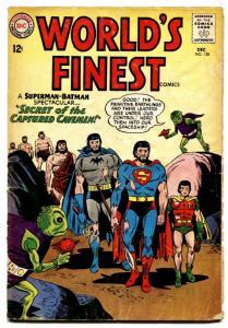 Worlds Finest #138 comic book 1963-beard Cover-batman-superman