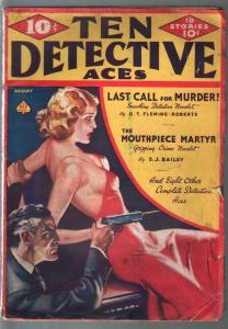 Ten Detective Aces 8/1937-Norman Saunders cover-G.T. Fleming-Roberts-VG