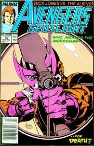 Avengers Spotlight #25, NM (Stock photo)
