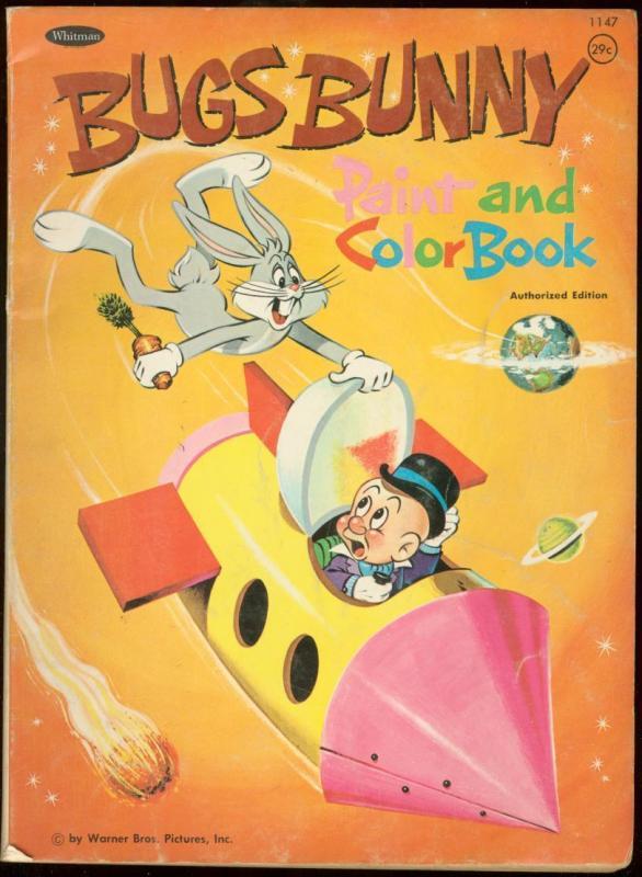 BUGS BUNNY PAINT & COLOR BOOK 1967 WHITMAN ROCKET SHIP G ...