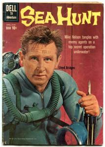 Sea Hunt #5 1960- Silver Age Dell comic- Lloyd Bridges VG