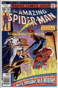 AMAZING SPIDER-MAN #184, VF+, White Dragon, Marv Wolfman, 1963, Red Death