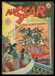 ALL-STAR COMICS #24 1945-GREEN LANTERN-HITLER COVER WW2 VG