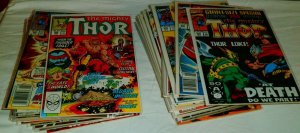 Thor V1 #389,392-397,399,400, ++ 432-450 DeFalco/Frenz, comic book lot of 39