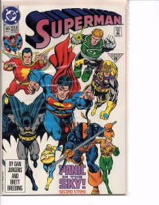 DC Comics Superman #65 Dan Jurgens Story, Art and Cover Assault on Warworld