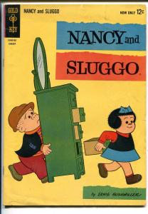 NANCY AND SLUGGO #189 1963-DELL-BUSHMILLER-PEANUTS-SCHULZ-vg