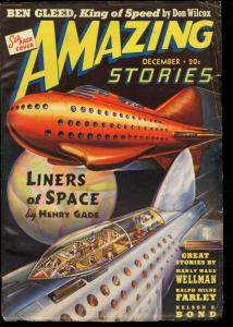 AMAZING STORIES 1939 DEC-COOL SCI FI PULP-ROCKET CVR FN