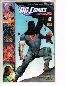 2011/12 Free Comic Book Day Lot Green Lantern Superman, Sonic the Hedgehog