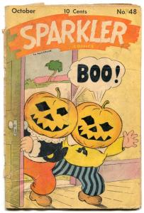 Sparkler #48 1945- HALLOWEEN COVER- Tarzan by Hogarth G-