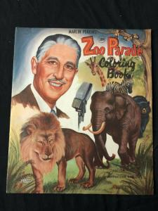 Marlin Perkins' Zoo Parade Coloring Book #1322 1953
