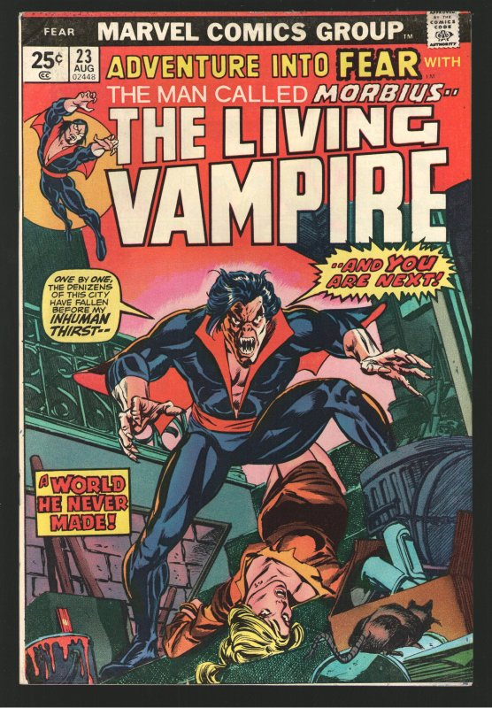 ADVENTURE INTO FEAR 22 VF and 23 FVF 7.0 MORBIUS;MOVIE release January 22, 2022
