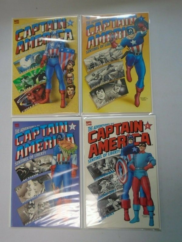 The Adventures of Captain America Set: #1-4 6.0 FN (1991)