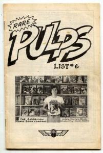 American Comic Book Co Pulp Catalog #6 1977 rare