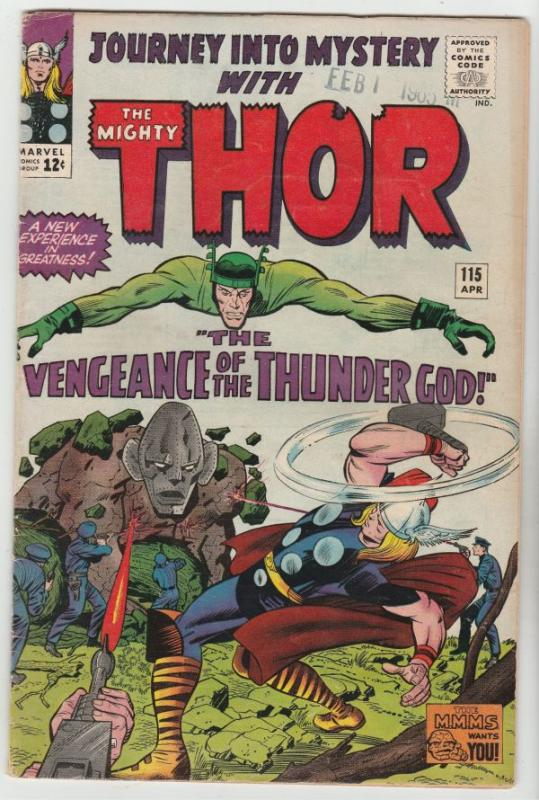 Journey into Mystery #115 (Apr-65) FN/VF Mid-High-Grade Thor
