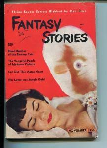 FANTASY STORIES-NOVEMBER-1950-FN-FLYING SAUCERS-CRIME -MYSTERY FN