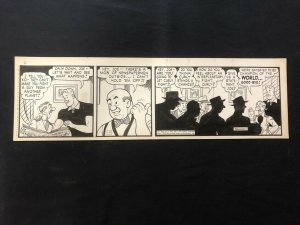 Curly Kayoe Original Daily Comic Strip Art September 30 1952 Sam Leff