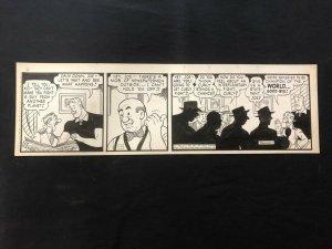 Curly Kayoe Original Daily Comic Strip Art September 30 1952 Sam Leff
