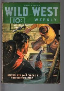 WILD WEST WEEKLY 11/23/1940-WESTERN PULP-SILVER KID FN+