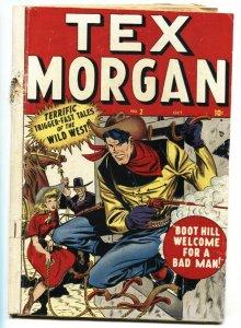 TEX MORGAN #2 1948-MARVEL-Syd Shores-comic book FR