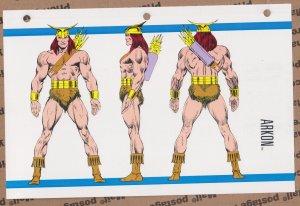 Official Handbook of the Marvel Universe Sheet- Arkon