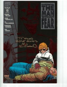 Daredevil The Man without Fear #1 VF/NM signed by Al Williamson - Marvel 1993