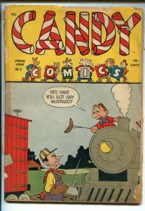 CANDY #3 1945-WM. H WISE-WACKY-WWII-SCOOP SCUTTLE-BASIL WOLVERTON-DICK WOOD-pr