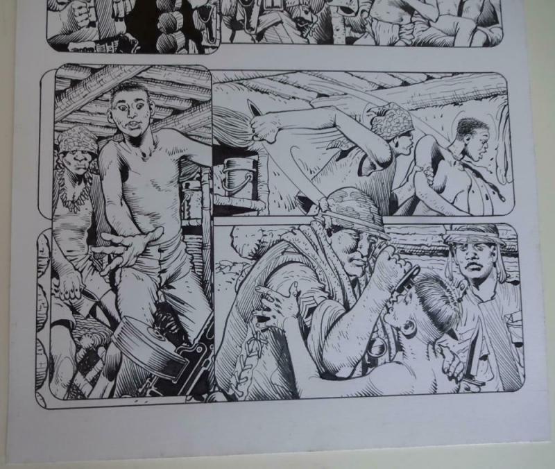 DON LOMAX Original Art, Vietnam Journal #8 pg 4, Brain Dead Horror, Caliber,2011