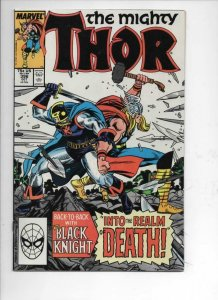THOR #396 VF+ God of Thunder Black Knight 1966 1988, more Thor in store, Marvel