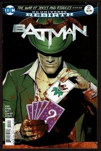 Batman #27 Rebirth (Sep 2017, DC) 0 7.0 FN/VF