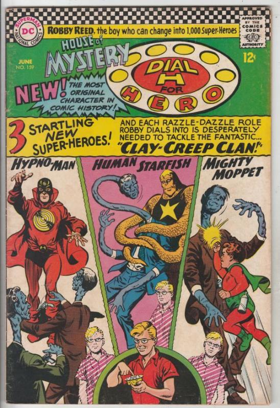 House of Mystery #159 (Jun-66) VG/FN Mid-Grade Martian Manhunter, Robby Reed ...