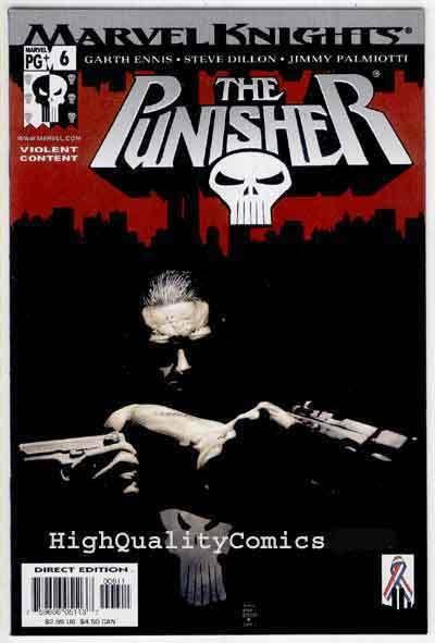 PUNISHER #6, NM+, Garth Ennis, Palmiotti, 2001, Steve Dillon, Tim Bradstreet.