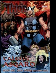 THOR Tales of Asgard Marvel Comic Book HARDCOVER Graphic Warriors Three Sif NP13