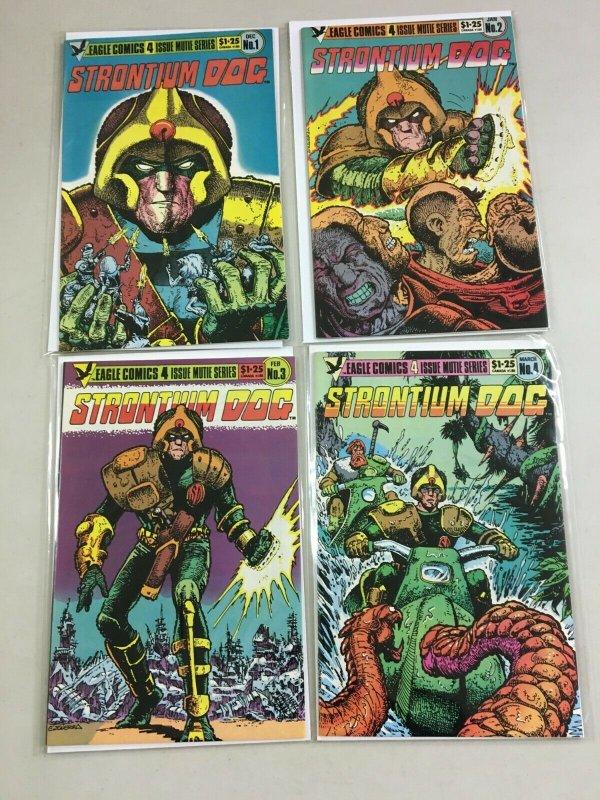 Strontium Dog set #1-4 8.0 VF (1995 Eagle)