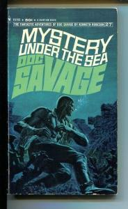 DOC SAVAGE-MYSTERY UNDER THE SEA-#27-ROBESON-VG/FN-JAMES BAMA COVER-1ST ED VG/FN