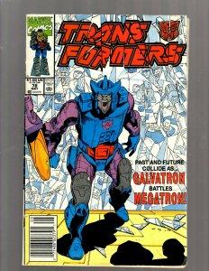 Transformers # 78 FN Marvel Comic Book Optimus Prime Megatron Bumblebee RP5