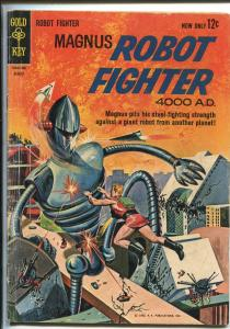 MAGNUS ROBOT FIGHTER #3 1963-GOLD KEY-RUSS MANNING-SCI-FI ART-vg minus