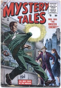 MYSTERY TALES #36-1955-BERNIE KRIGSTEIN ART-FLYING SAUCERS-HORROR