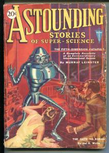 ASTOUNDING STORIES 01/1931-CLAYTON-EARLY ROBOT COVER-LEINSTER-DIY-good/vg