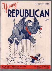 Young Republican #1 2/1936-1st issue-Abe Lincoln-Birth of Republicans-VF+
