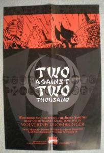 2 AGAINST 2 THOUSAND Promo Poster, Wolverine, Unused, more in our store