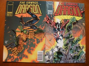 2 Near-Mint Image THE SAVAGE DRAGON #17 (1995) & #30 (1996) Larsen
