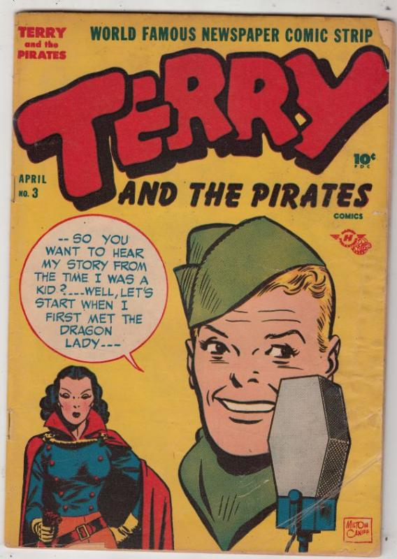 Terry and the Pirates #3 (Apr-47) VG+ Affordable-Grade Terry