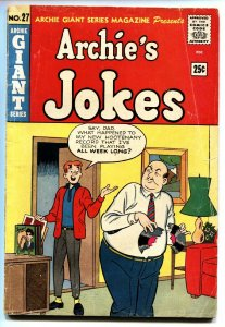 Archie Giant Series #27 1964 Archie's Jokes-Record gag cover