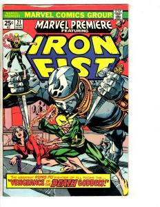 Marvel Premiere # 21 VF Comic Book Feat. Iron Fist Kung Fu 1st Misty Knight J290