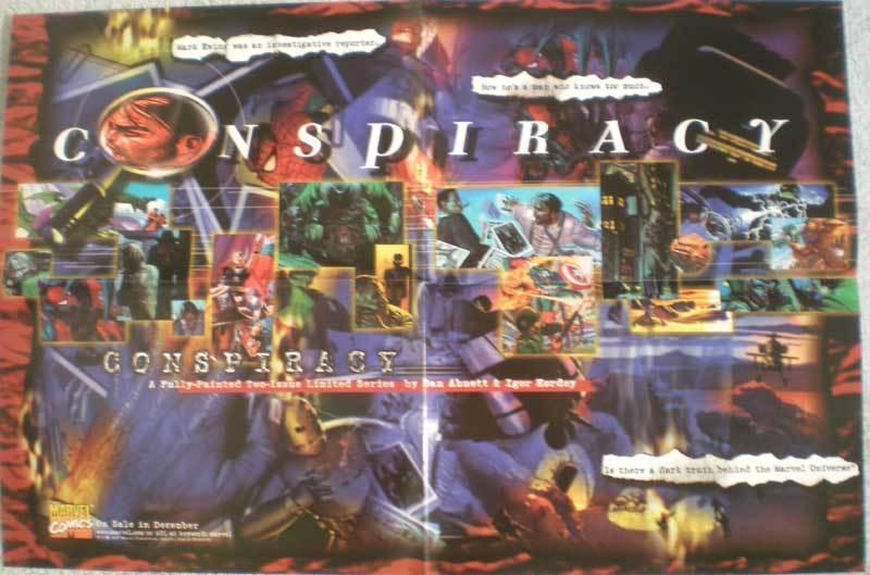 CONSPIRACY Promo poster, 18 x 12, 1997, Unused, more in our store