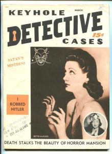 KEYHOLE DETECTIVE CASES #1 3/57-PULP-Bettie McGuire-VICE-SOUTHERN STATES-vf-