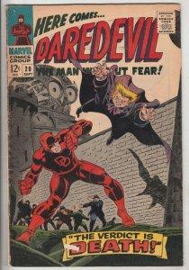 Daredevil #20 (Sep-66) FN/VF+ High-Grade Daredevil